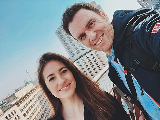 Rooftop photo shooting @visit_berlin with the beautiful German actress @elenagarciagerlach and the brand new @sonyalpha A7III. Thx to @sony and Sony Center for this exclusive view over Berlin  #skyoverberlin #rooftops #actresses #germanactress #germantv #